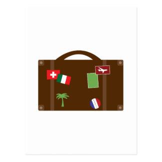 Travel Luggage Postcard
