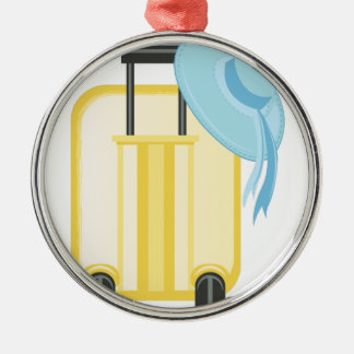 Travel Luggage Silver-Colored Round Decoration