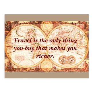 Travel makes you richer- postcard