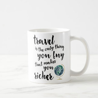 Travel Makes You Richer Quote Mug