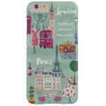 Travel map London Paris   Iphone 6 plus Case