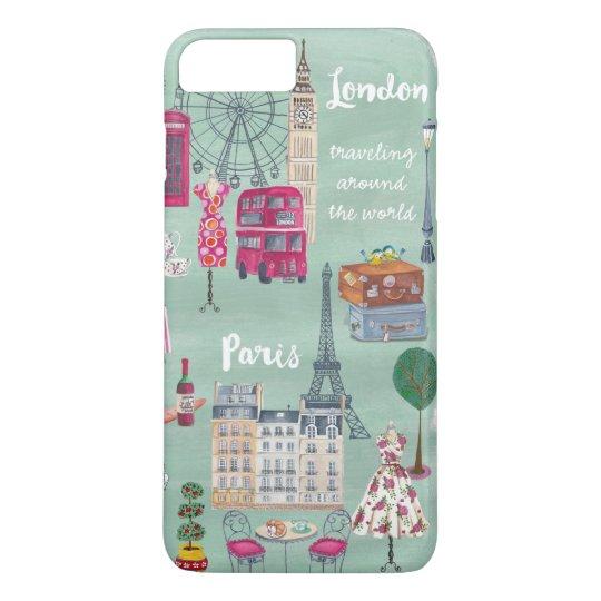 Travel map London Paris | iPhone 7 plus