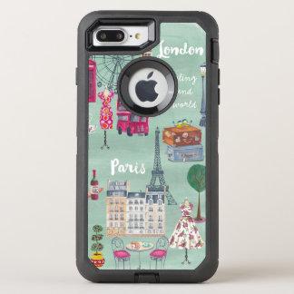 Travel map London Paris | Otterbox | Iphone