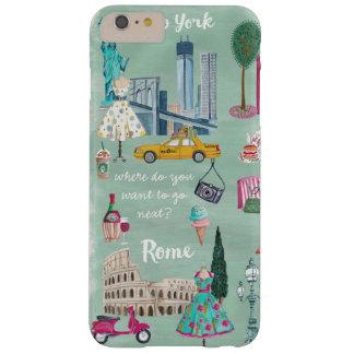 Travel map New York Rome | Iphone 6 plus Case