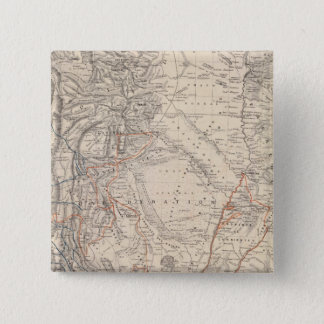 Travel Map of Dr V Martin de Moussy 15 Cm Square Badge