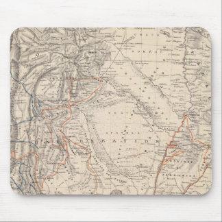 Travel Map of Dr V Martin de Moussy Mouse Mat