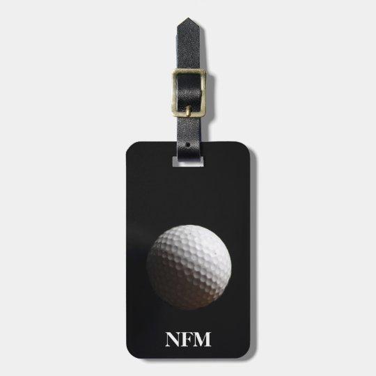 Travel Monogram Sports White Golf Ball on Black