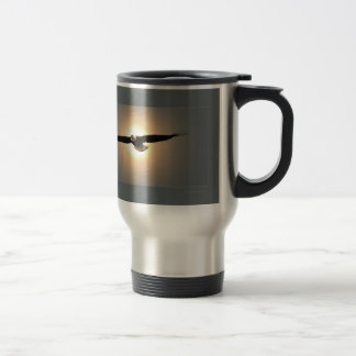 Travel mug, eagle stainless steel travel mug
