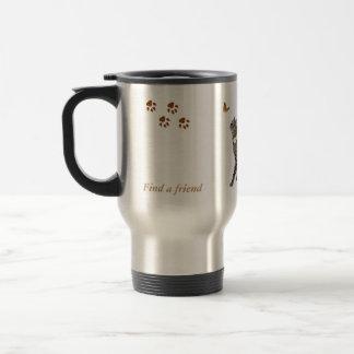 Travel mug featuring Tabatha, the tabby
