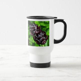 Travel Mug; Flowers Purple Tulips Stainless Steel Travel Mug