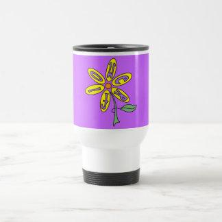 Travel Mug - Mellow Yellow Flower Power