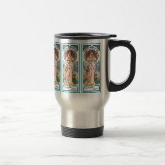 Travel Mug:  Mucha -  Sylvais Perfume Ad