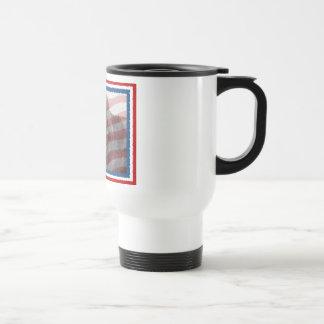 Travel Mug ~Patriotic Newfoundland Dog