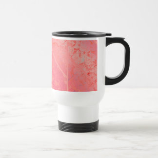 Travel Mug Pink Marble Texture