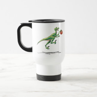 Travel Mug Velociraptor Dinosaur w/ Basketball