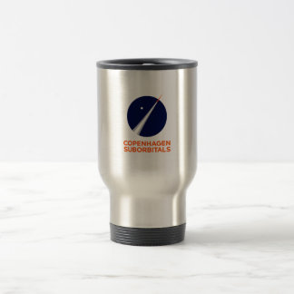 Travel mug with Copenhagen Suborbitals Logo