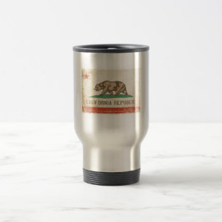 Travel Mug with Distressed Flag from California