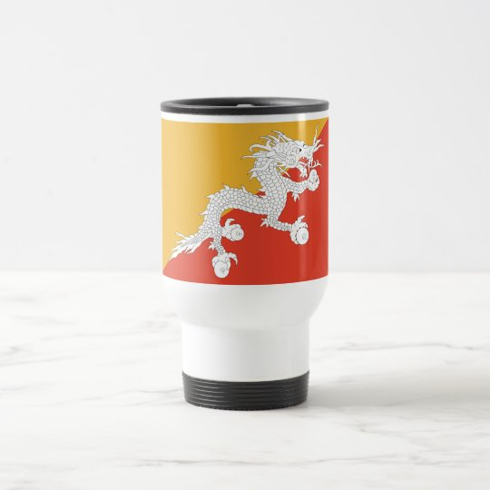 Travel Mug with Flag of Bhutan