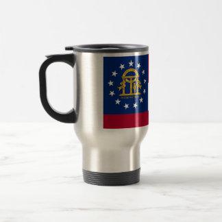 Travel Mug with Flag of  Georgia State - USA