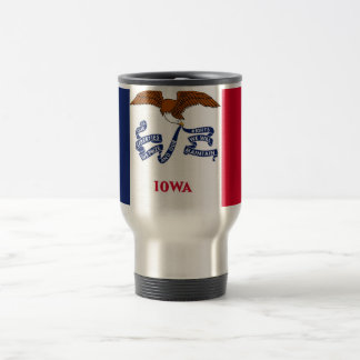 Travel Mug with Flag of Iowa State - USA