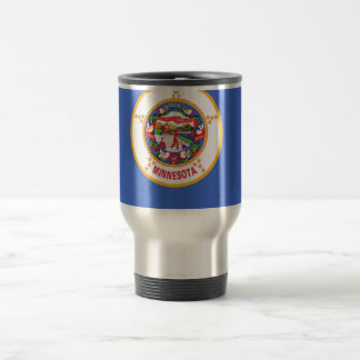 Travel Mug with Flag of Minnesota State - USA