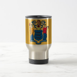 Travel Mug with Flag of New Jersey State - USA