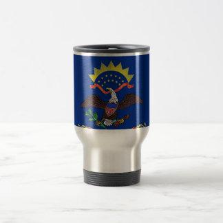 Travel Mug with Flag of North Dakota State - USA