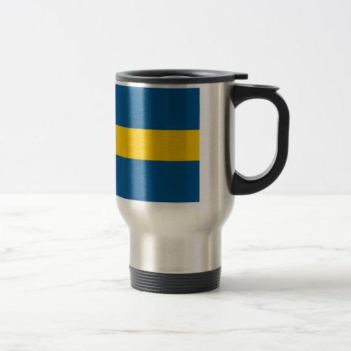 Travel Mug with Flag of Sweden