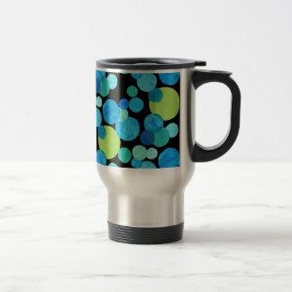 Travel Mug with Lid, Blue Moons Pattern