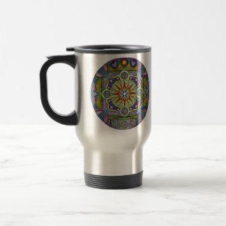 travel mug with mandala design