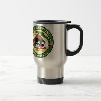 Travel mug, Woodstock Curling Club logo Stainless Steel Travel Mug