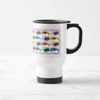 Travel Mugs - Pop Art Eyes