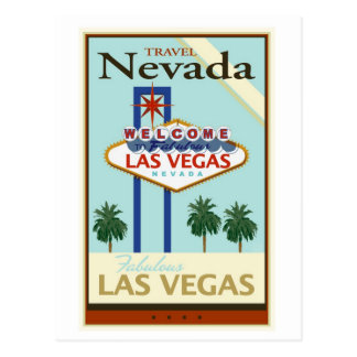 Travel Nevada Postcard