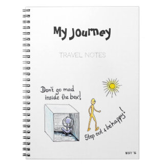 """Travel Notebook """"Step out of the Box"""""""