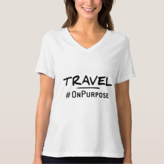 Travel #OnPurpose Women's Relaxed Fit V-Neck tee