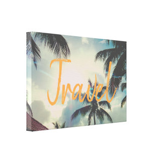 Travel Paradise | Custom Word Canvas Print
