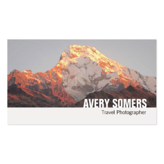 Travel Photographer Add a Photo Photography Pack Of Standard Business Cards