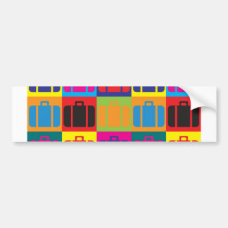 Travel Pop Art Bumper Sticker