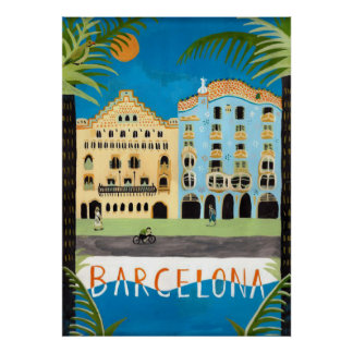 travel  POSTER, Barcelona,Spain Poster