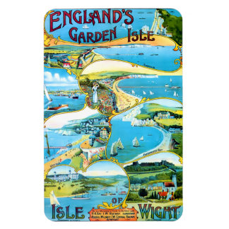 Travel Poster for the Isle of Wight in England Rectangular Photo Magnet