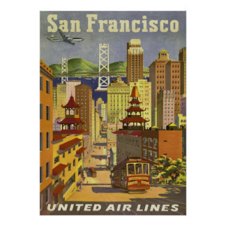 travel  POSTER, San Francisco Poster