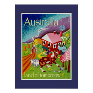 Travel Poster Vintage Art Australia
