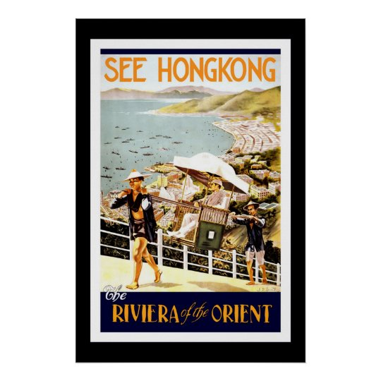 Travel Poster Vintage Hong Kong Orient