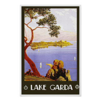 Travel Poster Vintage Lake Garda Italy