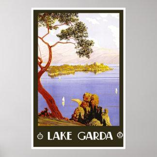 Travel Poster Vintage Lake Garda Italy Posters