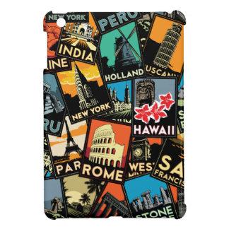 travel posters retro vintage europe asia usa case for the iPad mini