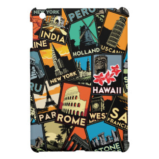 travel posters retro vintage europe asia usa iPad mini covers