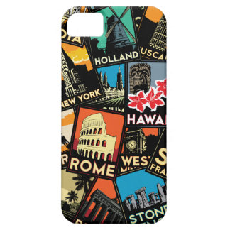 Travel posters retro vintage europe asia usa iPhone 5 cover