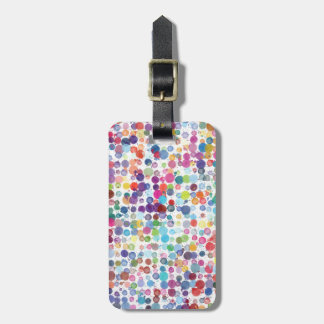 Travel Rainbow Art Paint Splatters Bag Tag