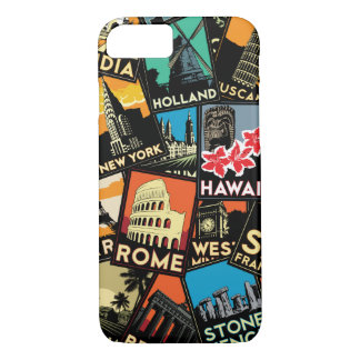Travel retro vintage europe asia usa iPhone 7 case